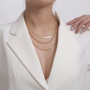 New necklace multilayer golden